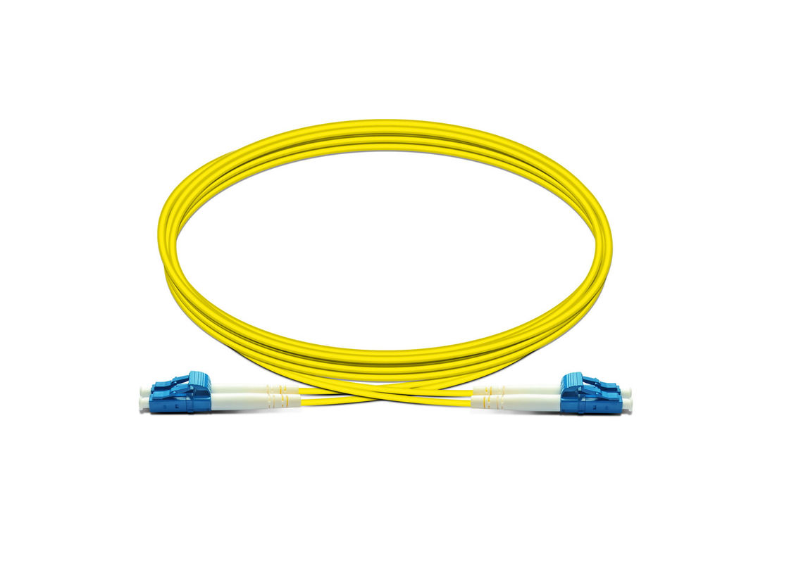 LC Duplex G652d Single Mode Fiber Patch Cable For Telecom / CATV Systems supplier