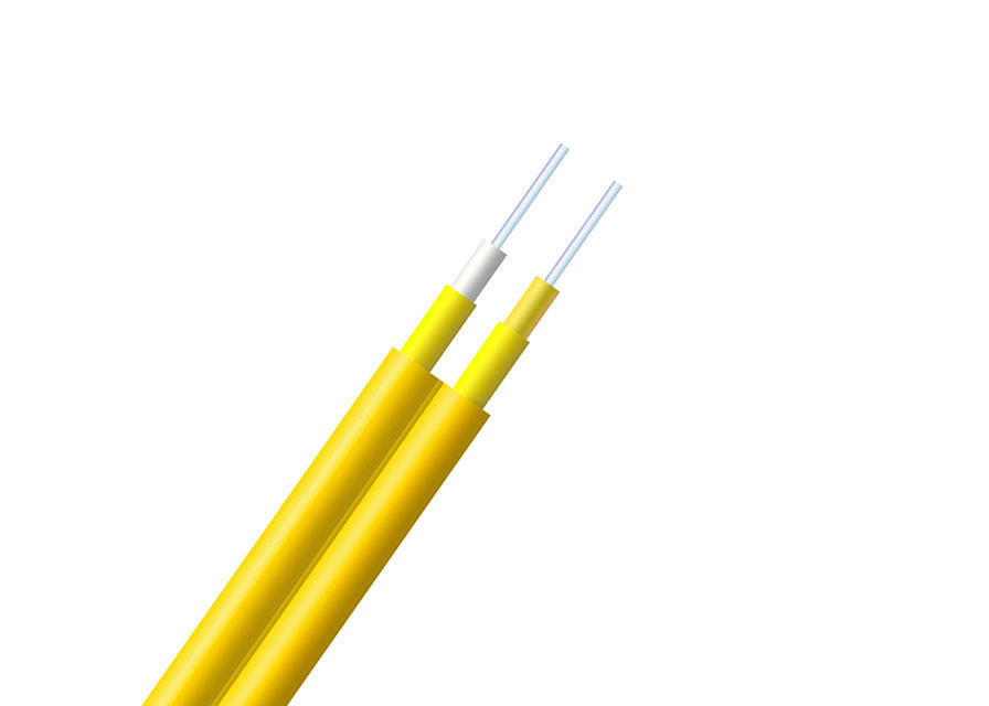 High Strength Yellow Fiber Cable Durable With Flame Retardant Jacket supplier